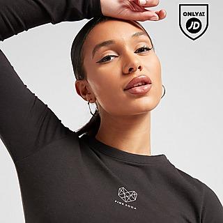 Pink Soda Sport Essentials Long Sleeve Crop T-Shirt