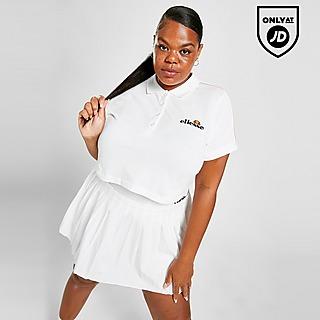 Ellesse Pipe Crop Plus Size Polo Shirt