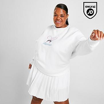 Ellesse Tennis Embroidered Plus Size Crew Sweatshirt