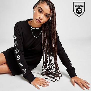 Supply & Demand Gothic Long Sleeve T-Shirt Dress