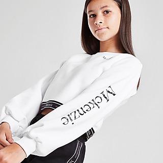 McKenzie Girls' Isla Tape Crop Crew Neck Sweatshirt Junior
