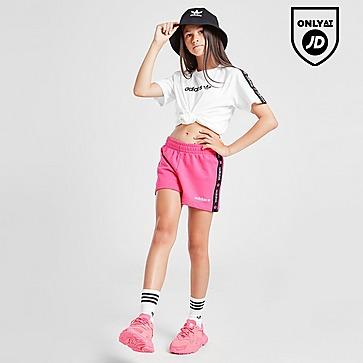 adidas Originals Girls' Tape Fleece Shorts Junior