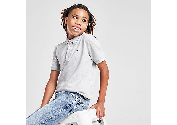 Tommy Hilfiger Small Flag Logo Polo Shirt Junior - Grey - Kids
