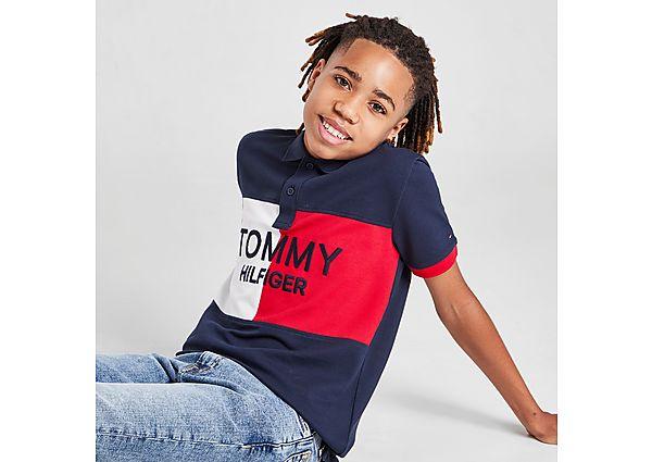 Tommy Hilfiger Flag Colour Block Polo Shirt Junior - Navy - Kids