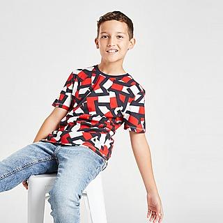 Tommy Hilfiger All Over Print Short Sleeve T-Shirt Junior