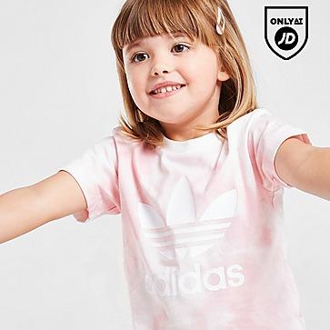 adidas Originals Girls' Tie Dye T-Shirt/Cycle Shorts Set Infant