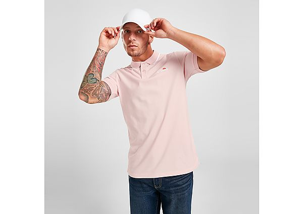 Ellesse Zarlero Polo Shirt - Pink - Mens