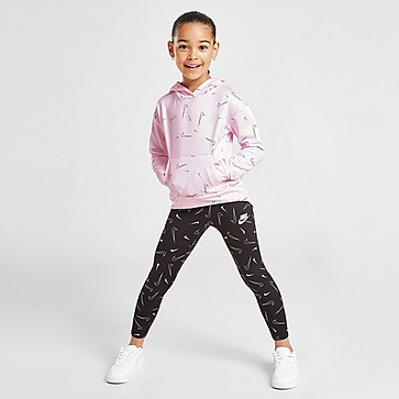 Nike Girls' All Over Print Swoosh Hoodie Children