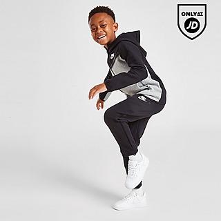Nike Tech Colour Block Full Zip Tracksuit Children