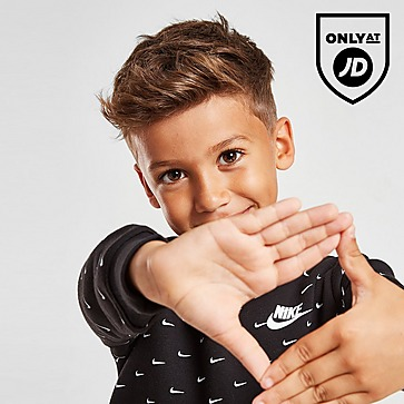 Nike All Over Swoosh Print Overhead Tracksuit Children