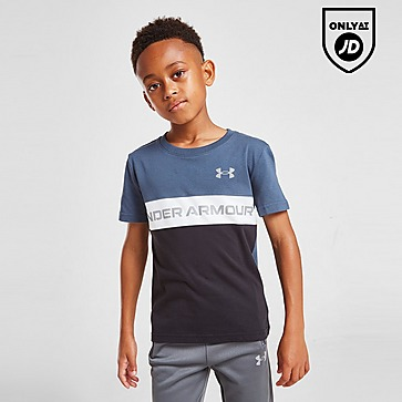 Under Armour Colour Block Logo T-Shirt Children
