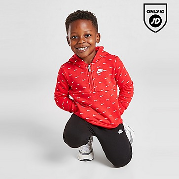 Nike All Over Print Swoosh 1/4 Zip Tracksuit Infant
