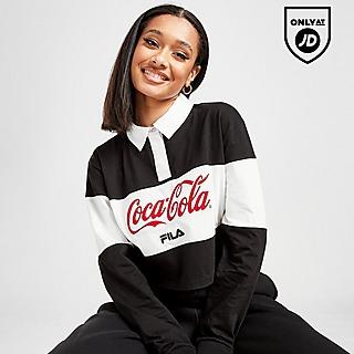 Fila x Coca-Cola Panel Rugby Crop Polo Shirt