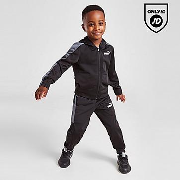 Puma Essential Poly Full Zip Tracksuit Children