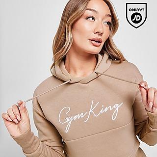 Gym King Sky Crop Logo Hoodie