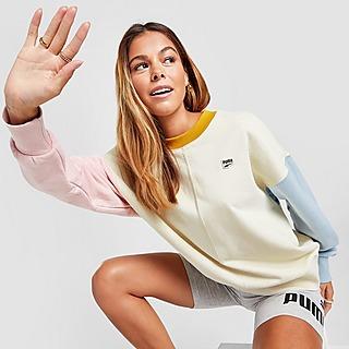 Puma Downtown Colour Block Crew Sweatshirt