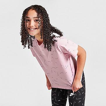 Nike Girls' All Over Print Boxy T-Shirt Junior