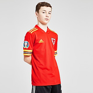 adidas Wales Euro 2020 Badged Home Shirt Junior