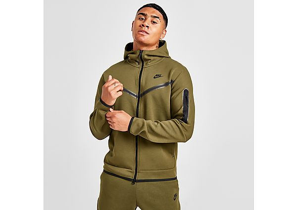 Nike Tech Fleece Full Zip Hoodie - Rough Green - Mens