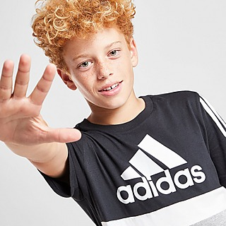 adidas Badge of Sport Colour Block T-Shirt Junior