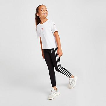 adidas Girls' Trefoil 3-stripes Leggings Children