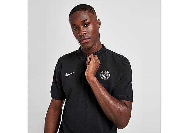 Nike Paris Saint Germain Training Polo Shirt - Black - Mens