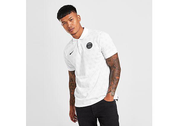 Nike Paris Saint Germain Slim Polo Shirt - White - Mens