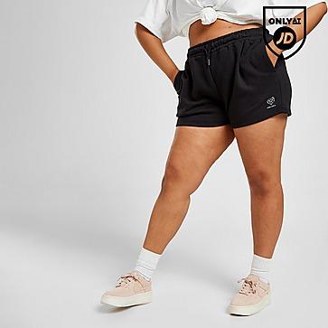 Pink Soda Sport Essential Plus Size Fleece Boyfriend Shorts