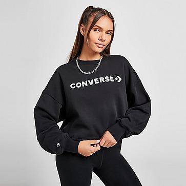 Converse Embroidered Logo Crop Sweatshirt