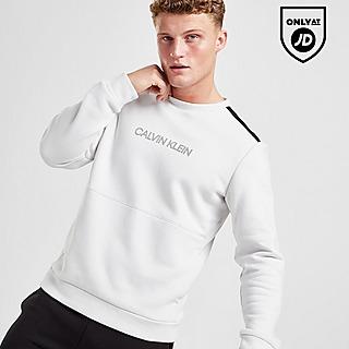 Calvin Klein Central Logo Tape Crew Sweatshirt