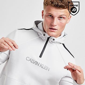 Calvin Klein Central Logo Tape 1/2 Zip Hoodie