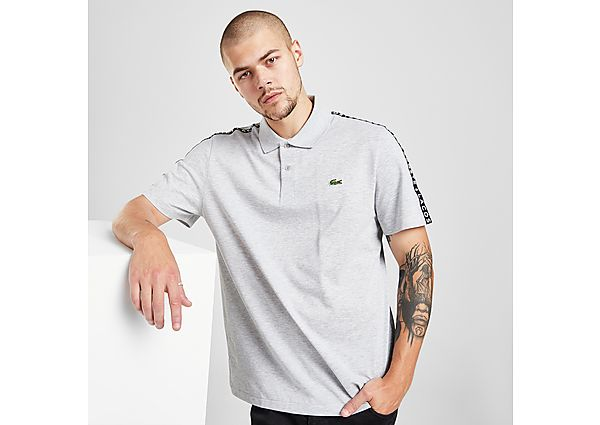 Lacoste Tape Polo Shirt - Grey - Mens