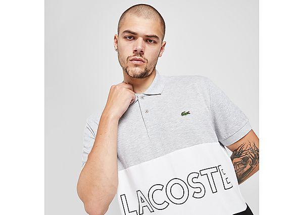 Lacoste Colour Block Linear Polo Shirt - Grey - Mens