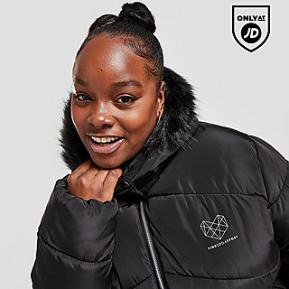 Pink Soda Sport Anaheim Plus Size Belted Padded Jacket