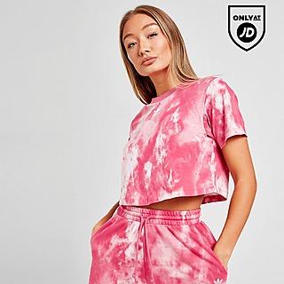 adidas Originals Tie Dye Trefoil Crop T-Shirt