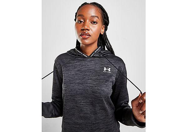 Under Armour UA Armour Fleece Crop Hoodie - Black - Womens