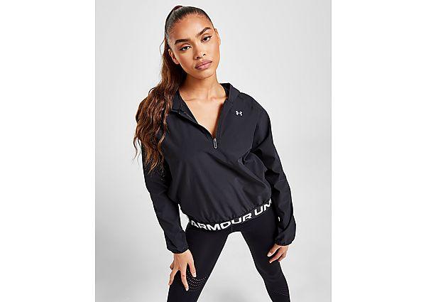 Under Armour Wordmark Woven 1/4 Zip Track Top - Black - Womens
