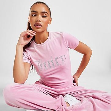 JUICY COUTURE Diamante Velour T-Shirt