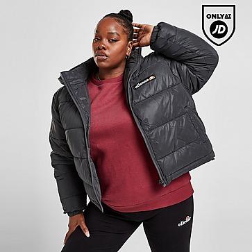 Ellesse Back Logo Plus Size Padded Reflective Jacket