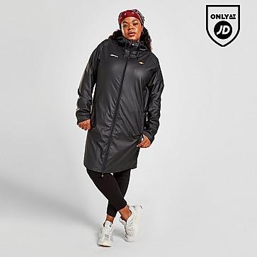 Ellesse Plus Size Lightweight Long Rain Jacket