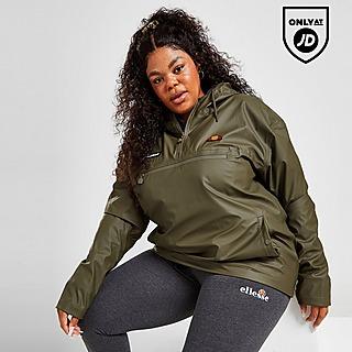 Ellesse Lightweight 1/4 Zip Plus Size Rain Jacket