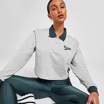 Puma Varsity Long Sleeve Polo Shirt