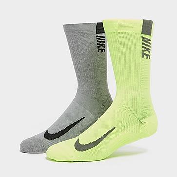 Nike 2 Pack Running Crew Socks