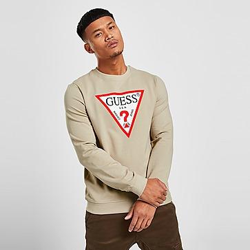 GUESS Triangle Logo Crew Sweatshirt