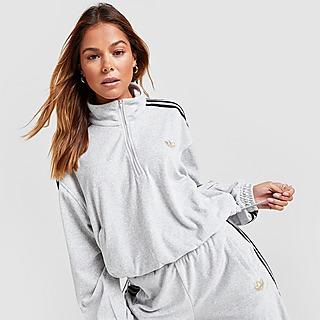 adidas Originals Velour 1/4 Zip Top
