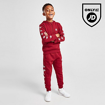 adidas Originals Repeat Trefoil 1/4 Zip Tracksuit Children