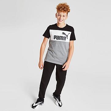 Puma Colour Block Logo T-Shirt Junior