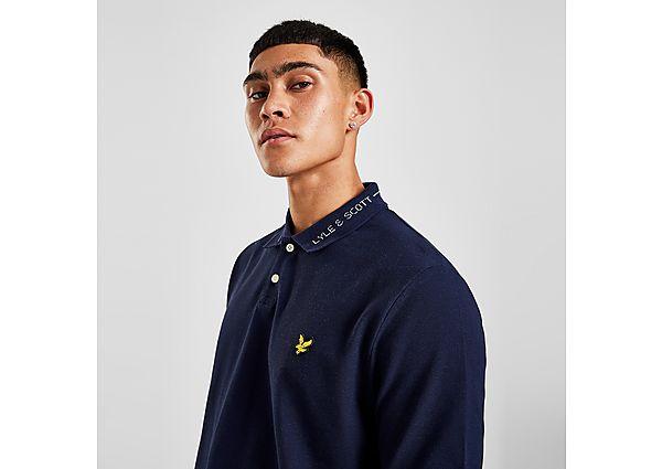 Lyle & Scott Lined Collar Polo Shirt - Navy - Mens