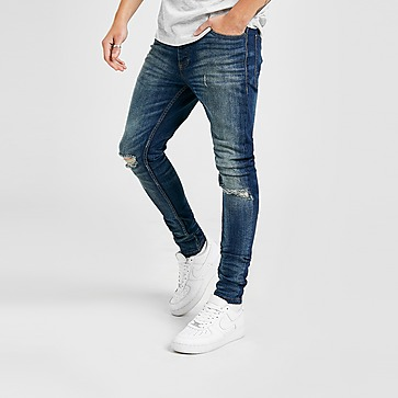 Brave Soul Skinny Distressed Faded Jeans