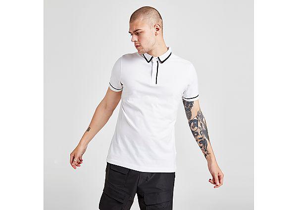Brave Soul Core Tip Polo Shirt - White - Mens